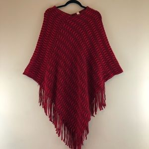 Pull Over Shawl One Size Red's